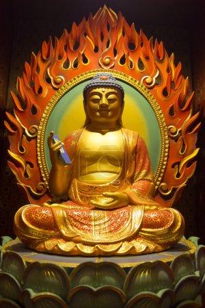 Buddha with mobile