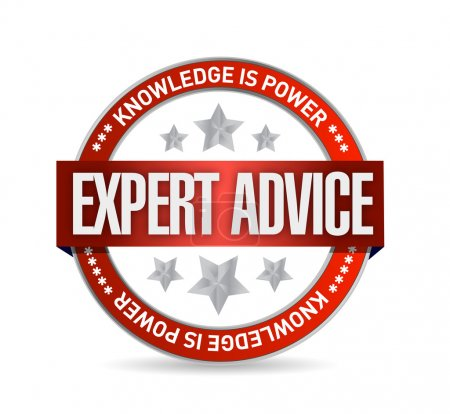 expert advice seal illustration