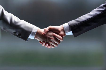The businessman. Hand for a handshake. The conclusion of the transaction.
