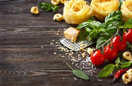 Italian food ingredients.