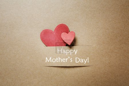 Happy Mothers Day message with hearts