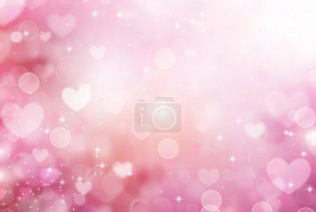 Valentine Hearts Abstract Pink Background. St.Valentine's Day