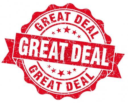 Great deal red grunge vintage seal