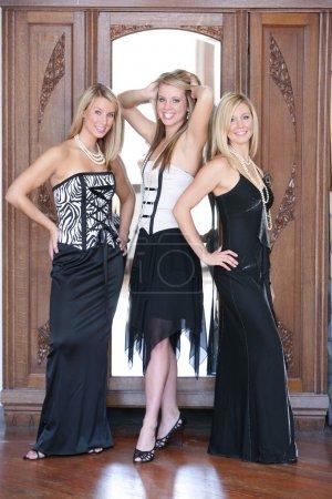 Three teenage girls