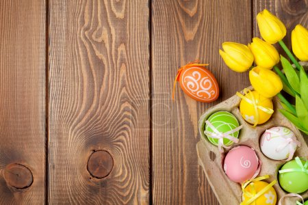 Easter decorations background