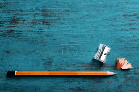 Pencil with sharpening shavings