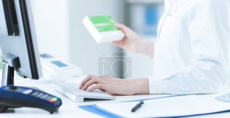 Pharmacist searching products in the database