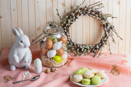 Easter eggs and macarons