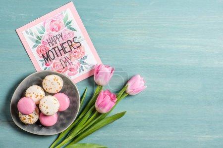 Macarons and greeting card