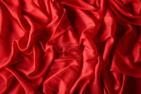 Silk satin fabric texture background.