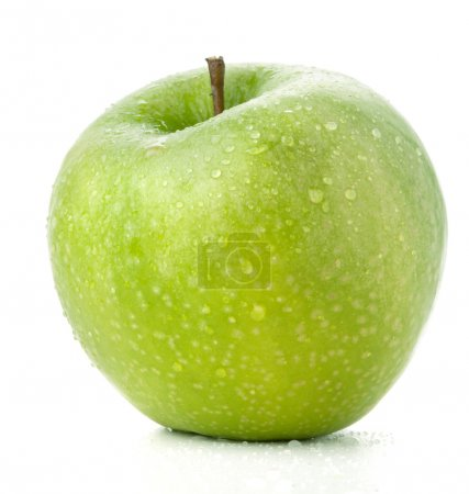 A ripe green apple