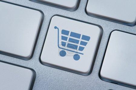 Shopping cart symbol at the computer key
