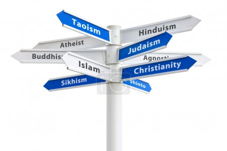 Religions of the World Sign Isolated On White Background
