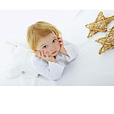 Child, Girl, Bored, Christmas, Offended