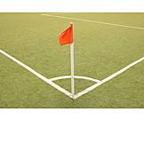 Soccer field, Flag, Corner