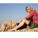 Couple, Embracing, Relaxation & recreation, Relaxing, Relaxation