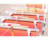 In a row, Deck chair