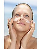 Beauty & cosmetics, Young woman, Woman, Lotion