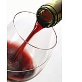 Glass, Wine bottle, Red wine