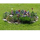 Garden gnome, Flower bed