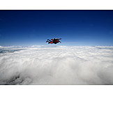 Flying, Parachutist, Parachuting