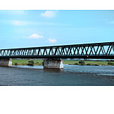 Bridge, Elbe river, Steel bridge