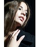 Young woman, Portrait, Lascivious
