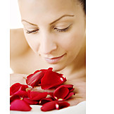 Beauty & cosmetics, Young woman, Woman, Wellness & relax, Smelling