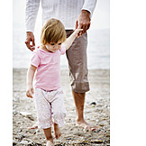 Child, Girl, Father, Holding hands, Family, Trust
