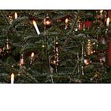 Christmas lights, Christmas tree decorations, Christmas tree