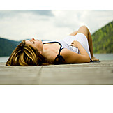 Young woman, Woman, Relaxing, Relaxation