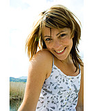 Young woman, Woman, Smiling, Summer freckle