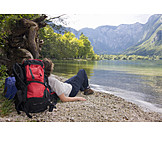 Resting, Relaxation & recreation, Mountain, Hiker