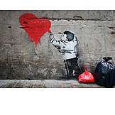 Heart, Spraying, Graffiti, Streetart