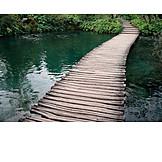 Footpath, National park, Plitvice lakes