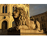 Statue, Lion, Oslo