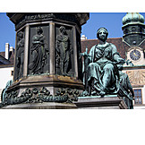 Hofburg, Fountain figurine, Amalienhof, Renaissance fountain
