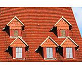 Rooflights, Tiled roof, Dormer