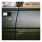 Car wreck, Car door, Hate, Rebel