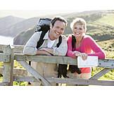 Couple, Hiking, Hiker