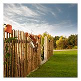 Garden, Wooden Fence, Garden Fence