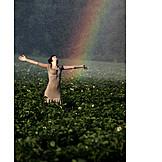 Teenager, Refreshment, Rainbow, Omitted, Summer rain