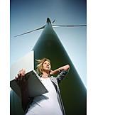 Woman, Technique & technology, Progress, Wind power