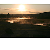 Fog, Yellowstone national park, Fog