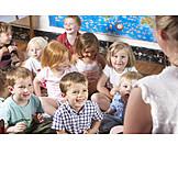 Attentive, Listening, Preschool, Kindergarten group