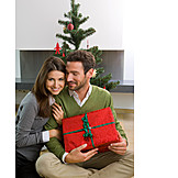 Couple, Christmas eve, Christmas present