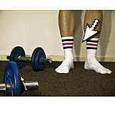 Humor & bizarre, Tennis socks, Cursor, Dumbbell training