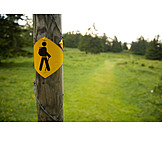 Trail, Footpath sign, Markers