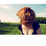 Wild, Red hair, Freedom & independence, Cleavage