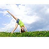 Teenager, Vitality, Cartwheel